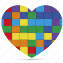couple, gay, heart, homosexual, love, rainbow, valentine icon