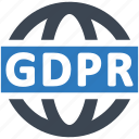 gdpr, global, network icon