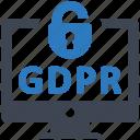 access, breaches, gdpr icon
