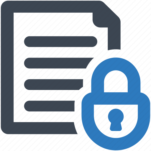 document, file, security icon