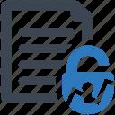 access, document, file icon