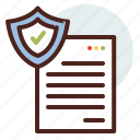 data, file, information, personal, security icon
