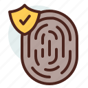 data, fingerprint, information, personal, security icon