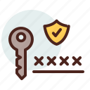 data, information, key, personal, security icon