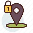 data, information, location, personal, security icon