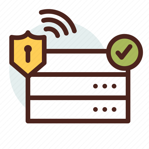 data, information, personal, security, server icon