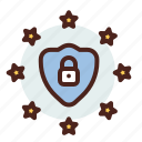 data, information, personal, security, shield icon