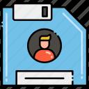 data, database, personal, storage icon