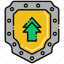 protection, security, shield, upgrade icon