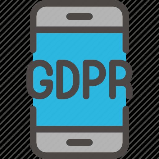 eu, gdpr, phone, secure, security icon, smartphone, smartphone icon icon