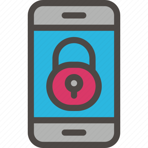 eu, gdpr, padlock, phone, secure, security icon, smartphone icon icon