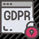 browser, eu, gdpr, padlock, secure, security icon ×internet icon