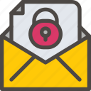 email, eu, gdpr, leter, mail, secure, security icon icon