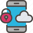 cloud, eu, gdpr, phone, secure, security icon, smartphone icon icon