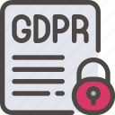 data, eu, gdpr, padlock, paper, secure, security icon icon