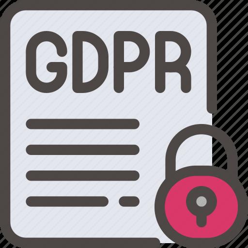 data, eu, gdpr, padlock, paper, secure, security icon icon