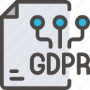 data, eu, file, gdpr, paper, secure, security icon icon