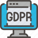 browser, computer, eu, gdpr, monitor, secure, security icon icon