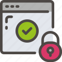 browser, check, eu, gdpr, padlock, secure, security icon icon