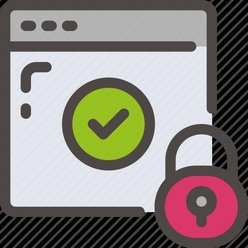 browser, check, eu, gdpr, padlock, secure, security icon icon