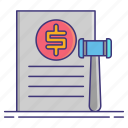 document, law, penalty icon