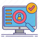 assessment, impact, privacy icon