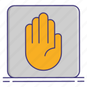 hand, object, right icon