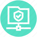 accept, connection, data, folder share, secure, security, shield