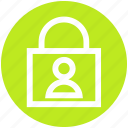 block, lock, protection, secure, security, user icon