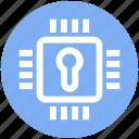 cpu, hardware, lock, microchip, processor, safe, security