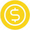 coin, currency, dollar, finance, money icon