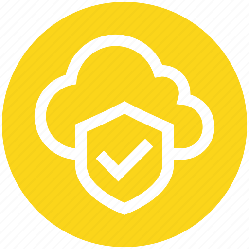 accept, cloud, cloud security, cloud shield, protection, security, shield icon
