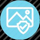 accept, image, landscape, photo, picture, security, shield