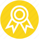 award, award badge, award ribbon, badge, prize, ribbon, winner badge icon