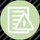 list, lock, paper, privacy, shield, warning