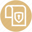 document, gdpr, lock, page, paper, protection, shield