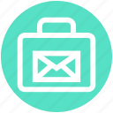 bag, email, envelope, letter, portfolio, shopping