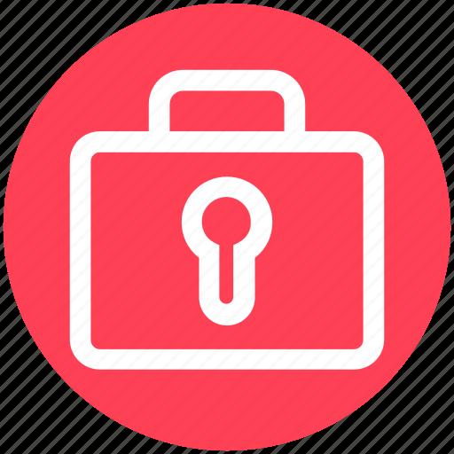 Bag, business, lock, password, portfolio, safe bag icon - Download on Iconfinder