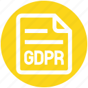 document, file, gdpr, general data protection regulation, page, paper icon