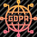 compliance, gdpr, globel, internet, online, worldwide icon