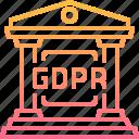 building, eu, law, regilation, security icon