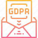announcement, compliance, gdpr, mail, message, protection icon