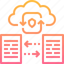 cloud, computing, file, network, online, protection, storage icon