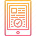 data, document, file, online, protection, tablet icon