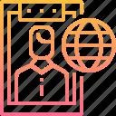 data, globel, internet, online, user, worldwide icon