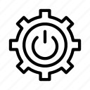 shutdown, gear, power, setting, configure icon