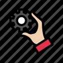 hand, gear, setting, cogs, configure