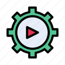 play, video, gear, setting, cogs