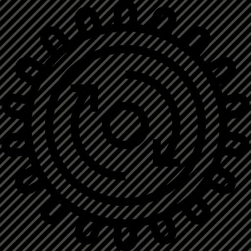 clockwise, cog, gears, mechanism, rotation, setup, yumminky icon