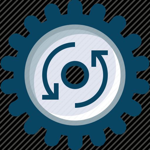 cog, counter clockwise, engineering, gears, mechanism, rotation, yumminky icon